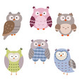 Set of cute owls set of cute owls