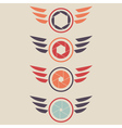 Shutter logo set wings vector image