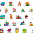 sketch art houses seamless pattern for your vector image vector image