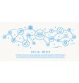 social media icons fhin design concept vector image vector image