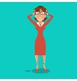 Stressed Business Woman Having a Headache vector image vector image