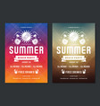 summer party design poster or flyer night club vector image vector image
