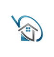 unique home estate logo icon vector image vector image