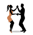 young afro american couple dancing salsa vector image