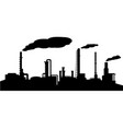oil refinery industry silhouette vector image