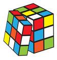 rubik cube vector image