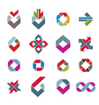 Abstract creative design elements collection vector image vector image