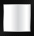 abstract metal texture background with square vector image vector image