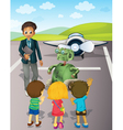 Airport School Trip vector image vector image