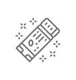 american football ticket line icon vector image vector image