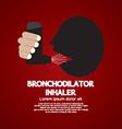 Asthma Patient Using Bronchodilator Inhaler vector image
