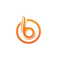 b letter icon design vector image