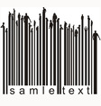 Bar code people vector image vector image