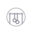 bar with gymnastics rings line icon vector image vector image