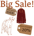 Big Sale with hunting dog sweatshirt vector image vector image