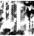 black horizontal halftone tire track vector image vector image