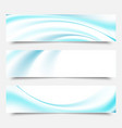 blue waves and lines on a white backgroundset vector image vector image