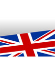 british flag frame background vector image