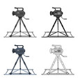 camera moving on railsmaking movie single icon in vector image vector image