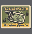 car alarm systems installation service poster vector image vector image