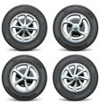 Car wheels side view vector image