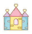 castle lovely cartoon vector image