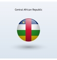 Central African Republic round flag vector image