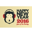 chinese year monkey 2016 new year vector image