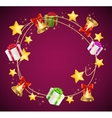 Christmas and Birthday Gift Box Garland Background vector image vector image