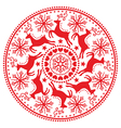 Christmas winter round pattern with reindeer vector image