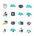 Cloud Computing Flat Icons Set vector image vector image