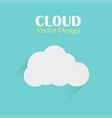 cloud design template cloud light blue back vector image