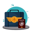 colorful travel icon over white background vector image vector image