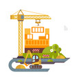 construction site building flat vector image