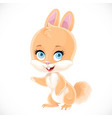 cute babunny shows aside isolated on a white vector image vector image