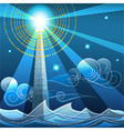 digital lighthouse vector image vector image