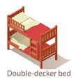 double-decker bed icon isometric style vector image vector image
