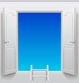 double doorsinto sky vector image