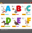 educational cartoon alphabet letters for kids vector image vector image