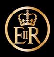 elizabeths reign emblem vector image