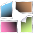 empty stamps vector image vector image
