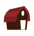 farm barn icon vector image vector image