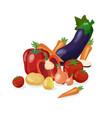 fresh vegetables background vector image vector image