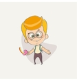 funny cute character of a young boy vector image vector image