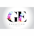 ge vibrant creative leter logo design with vector image vector image