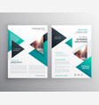 geoemtric triangles business flyer brochure vector image vector image