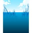 Global warming with iceberg vector image vector image