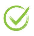 green check mark icon in circle vector image