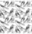 hand drawn birds seamless pattern vector image vector image