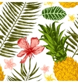 Hand drawn tropical seamless vector image vector image